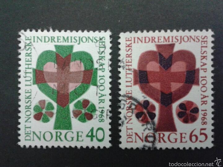 SELLOS DE NORUEGA. YVERT 558/9. SERIE COMPLETA USADA. (Sellos - Extranjero - Europa - Noruega)