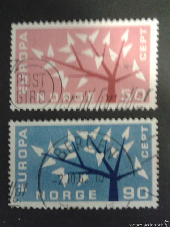 SELLOS DE NORUEGA. YVERT 443/4. SERIE COMPLETA USADA. EUROPA CEPT . (Sellos - Extranjero - Europa - Noruega)