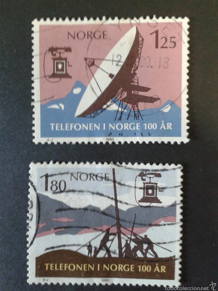 SELLOS DE NORUEGA. YVERT 771/2. SERIE COMPLETA USADA. (Sellos - Extranjero - Europa - Noruega)