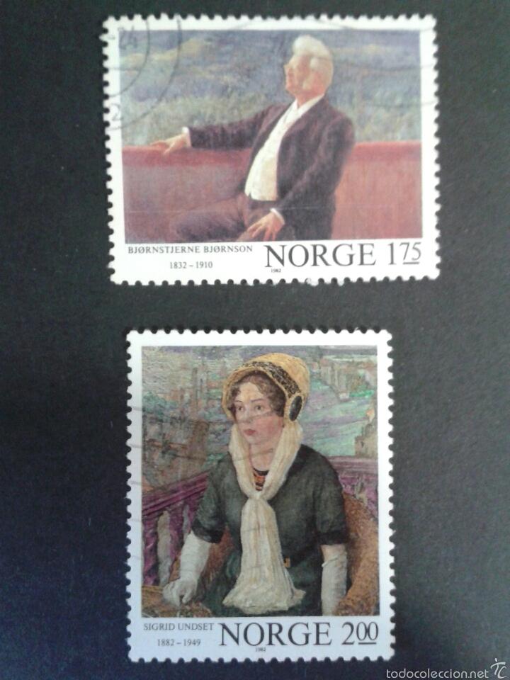 SELLOS DE NORUEGA. YVERT 826/7. SERIE COMPLETA USADA. PINTURAS (Sellos - Extranjero - Europa - Noruega)