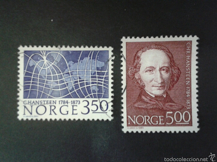 SELLOS DE NORUEGA. YVERT 858/9. SERIE COMPLETA USADA. (Sellos - Extranjero - Europa - Noruega)