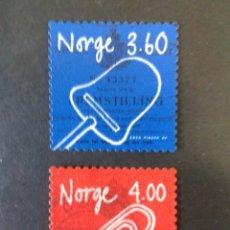 Sellos: SELLOS DE NORUEGA. YVERT 1261/2. SERIE COMPLETA USADA.. Lote 53273404