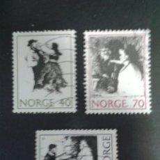 Timbres: SELLOS DE NORUEGA. YVERT 586/8. SERIE COMPLETA USADA. CUENTOS. FOLCLORE. Lote 53274064