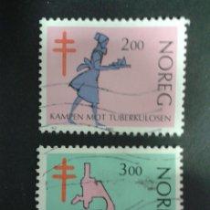 Sellos: SELLOS DE NORUEGA. YVERT 818/9. SERIE COMPLETA USADA.. Lote 53277548