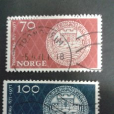 Sellos: SELLOS DE NORUEGA. YVERT 575/6. SERIE COMPLETA USADA. . Lote 53277555