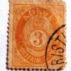 Sellos: SELLOS NORUEGA 1886. USADO CON CHARNELA.. Lote 53403618