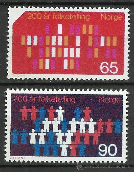 NORUEGA - 1969 - MICHEL 596/597 // SCOTT 547/548** MNH (Sellos - Extranjero - Europa - Noruega)