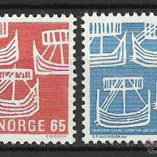Sellos: NORUEGA - 1969 - MICHEL 579/580 // SCOTT 523/524** MNH. Lote 194189100