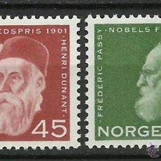 Sellos: NORUEGA - 1961 - MICHEL 464/465 // SCOTT 401/402** MNH. Lote 53667400