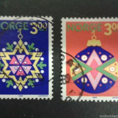 Sellos: SELLOS DE NORUEGA. YVERT 992/3. SERIE COMPLETA USADA. . Lote 54851470