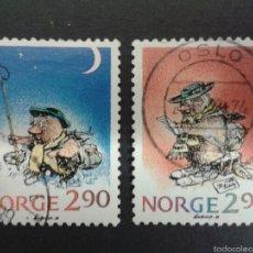 Sellos: SELLOS DE NORUEGA. YVERT 964/5. SERIE COMPLETA USADA. NAVIDAD. CÓMICS. Lote 54851471