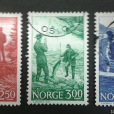 Sellos: SELLOS DE NORUEGA. YVERT 855/6. SERIE COMPLETA USADA. DEPORTES. PESCA. Lote 54851477