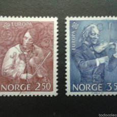 Sellos: SELLOS DE NORUEGA. YVERT 880/1. SERIE COMPLETA USADA. MÚSICA. Lote 54851478