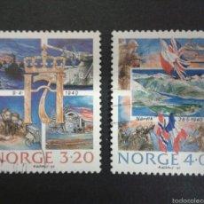 Sellos: SELLOS DE NORUEGA. YVERT 999/1000. SERIE COMPLETA USADA.. Lote 54851487