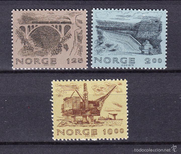 NORUEGA 758/60** - AÑO 1979 - CONSTRUCCIONES NORUEGAS - PUENTES - PRESAS - PLATAFORMAS PETROLIFERAS (Sellos - Extranjero - Europa - Noruega)