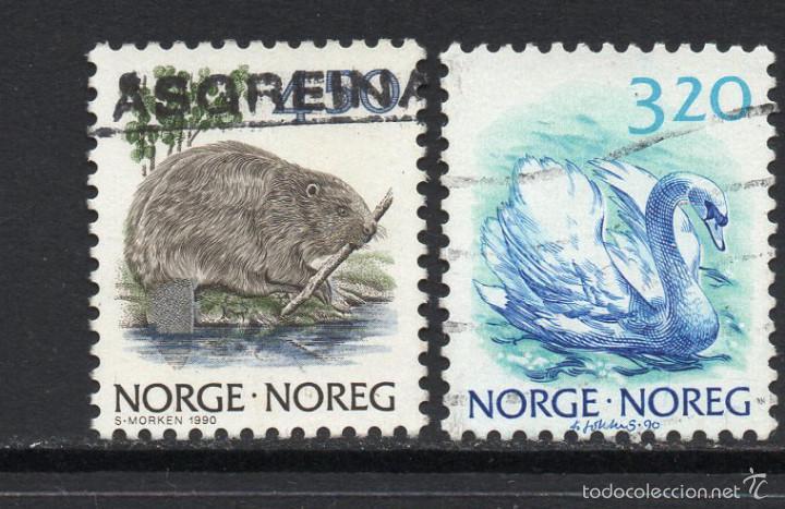 NORUEGA 997/98 - AÑO 1991 - FAUNA - AVES (Sellos - Extranjero - Europa - Noruega)