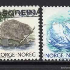 Sellos: NORUEGA 997/98 - AÑO 1991 - FAUNA - AVES. Lote 56220877