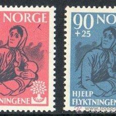 Sellos: NORUEGA 1960 IVERT 400/1 *** AÑO MUNDIAL DEL REFUGIADO. Lote 56388644