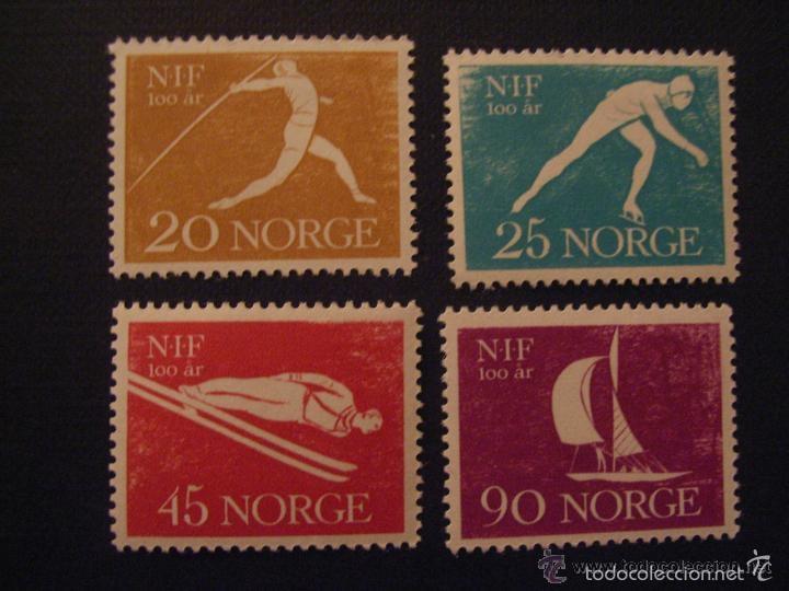 NORUEGA 1961 IVERT 409/12 *** DEPORTES - CENTENARIO DE LA ASOCIACIÓN DEPORTIVA (Sellos - Extranjero - Europa - Noruega)