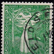 Sellos: IVERT 213. VII CENTENARIO DE LA MUERTE DE SNORRE STURLASON. 1941.. Lote 114921148