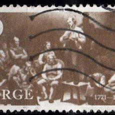 Sellos: IVERT 582 USADO. 200 ANIVERSARIO DE HANS NIELSEN HAUGE. 1971.. Lote 114923855