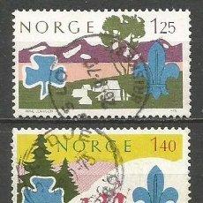 Sellos: NORUEGA YVERT NUM. 661/662 SERIE COMPLETA USADA. Lote 62086084