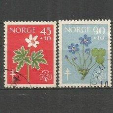 Sellos: NORUEGA YVERT NUM. 396/397 SERIE COMPLETA USADA. Lote 62185048