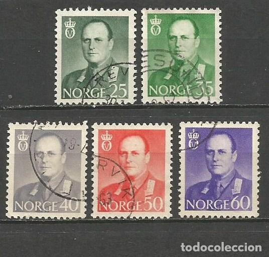 NORUEGA YVERT NUM. 428/432 SERIE COMPLETA USADA (Sellos - Extranjero - Europa - Noruega)