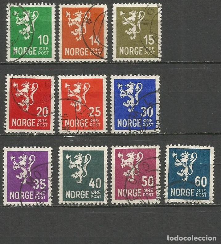 NORUEGA YVERT NUM. 173/182 COMPLETA USADA (Sellos - Extranjero - Europa - Noruega)