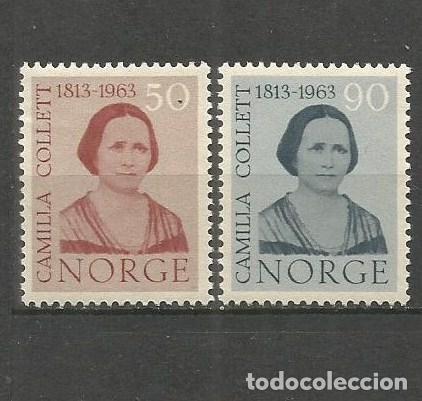 NORUEGA YVERT NUM. 450/451 * SERIE COMPLETA CON FIJASELLOS (Sellos - Extranjero - Europa - Noruega)