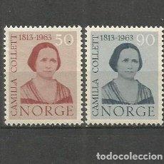Sellos: NORUEGA YVERT NUM. 450/451 * SERIE COMPLETA CON FIJASELLOS. Lote 69533841