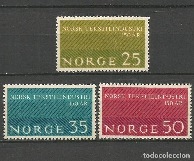 NORUEGA YVERT NUM. 462/464 * SERIE COMPLETA CON FIJASELLOS (Sellos - Extranjero - Europa - Noruega)
