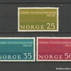 Sellos: NORUEGA YVERT NUM. 462/464 * SERIE COMPLETA CON FIJASELLOS. Lote 69534493