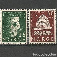 Sellos: NORUEGA YVERT NUM. 469/470 * SERIE COMPLETA CON FIJASELLOS. Lote 69534677