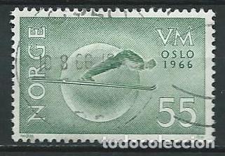 1966,CAMPEONATOS DEL MUNDO DE SKI (Sellos - Extranjero - Europa - Noruega)