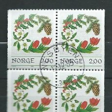 Sellos: NORUEGA , 1984, DOBLE PAREJA , YVERT 894A X 2.. Lote 121424287
