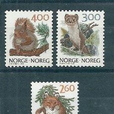 Sellos: NORUEGA Nº 968/70 (YVERT) AÑO 1989.. Lote 75634751