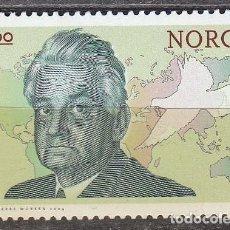 Sellos: NORUEGA 1522, PREMIO NOBEL DE LA PAZ, CHR. LOUS LANGE - 1921, NUEVO *** . Lote 77086133