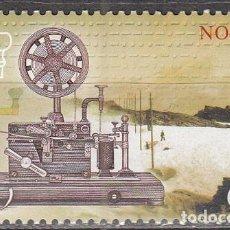 Sellos: NORUEGA 1551, 150 ANIVERSARIO DEL SERVICIO DE TELEGRAFO EN NORUEGA, NUEVO ***. Lote 77240729