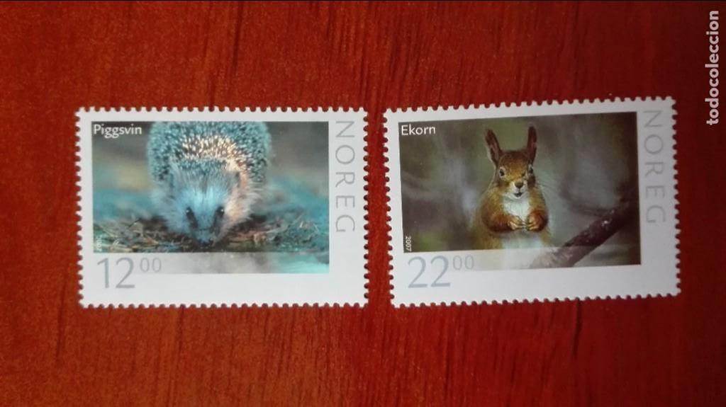 NORUEGA YVERT 1545/46*** FAUNA ANIMALES SALVAJES 2007 (Sellos - Extranjero - Europa - Noruega)