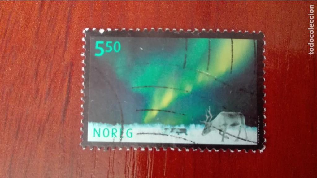 NORUEGA YVERT 1361 USADO NATURALEZA AURORA BOREAL 2001 (Sellos - Extranjero - Europa - Noruega)