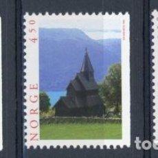 Sellos: NORUEGA 1996 IVERT 1163/5 *** TURISMO - PAISAJES Y MONUMENTOS. Lote 92838170