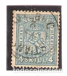 SELLO USADO NORUEGA. YVERT Nº 8. ESCUDO FRIMAERKE. REF. 2NORUEGA-8 (Sellos - Extranjero - Europa - Noruega)