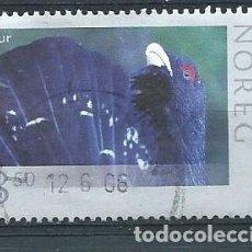 Sellos: NORUEGA,2006,FAUNA,UROGALLO,YVERT 1564,USADO. Lote 121414356