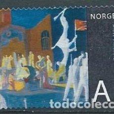 Sellos: NORUEGA,2008,ARTE NORUEGO,YVERT 1608,USADO. Lote 116708511