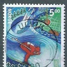 Sellos: NORUEGA,1997,CAMPEONATO DE SKI,USADO,YVERT 1200,USADO. Lote 104252222