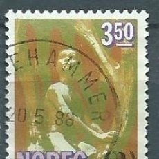 Sellos: NORUEGA,1985,VIGELAND PARK,USADO,YVERT 883,USADO. Lote 104252238