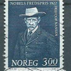 Sellos: NORUEGA,1982,FRIDTJOF NANSEN,USADO,YVERT 830,USADO. Lote 104252258