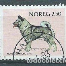 Sellos: NORUEGA,1983,PERROS,USADO,YVERT 835,USADO. Lote 104252362