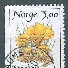 Sellos: NORUEGA,1989,SETAS,CANTARELLA,USADO,YVERT 966,USADO. Lote 104252370